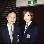 With Seiko Yamamoto, four-time world champion in women's wrestling 2002