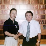 With Tomiyama Hideaki, Director or Nihon University Wrestling Club and 1984 Summer Olympics Gold Medalist in Men's freestyle 57 kg 1998